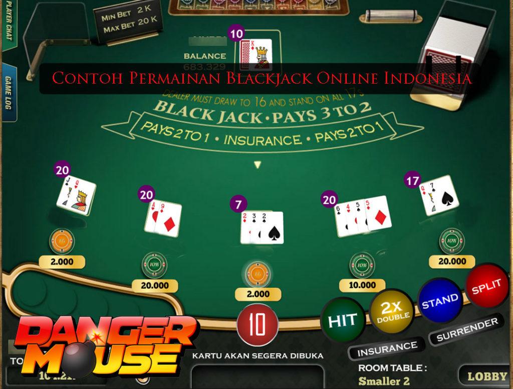 contoh permainan blackjack online