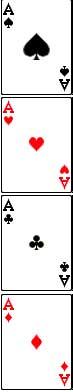 susunan lambang kartu